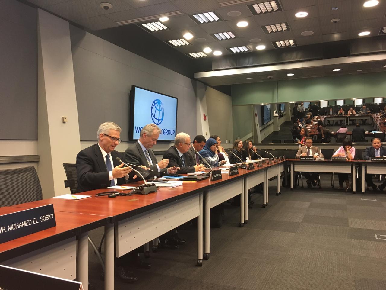 صور | وفد البرلمان المصري يطلب تعاون البنك الدولي في موازنة البرامج والأداء