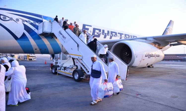 «مصر للطيران» تختتم اليوم جسرها الجوي لعودة حجاج بيت الله الحرام