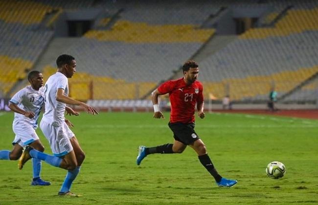 حمدى فتحى يسجل الهدف الأول لـ منتخب مصر فى شباك بتسوانا