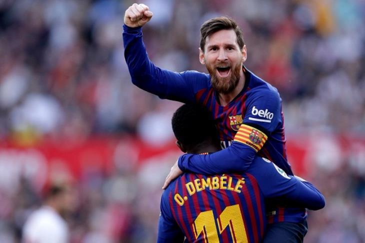 ميسي يقود برشلونة لصدارة الدوري الإسباني بخماسية في بلد الوليد