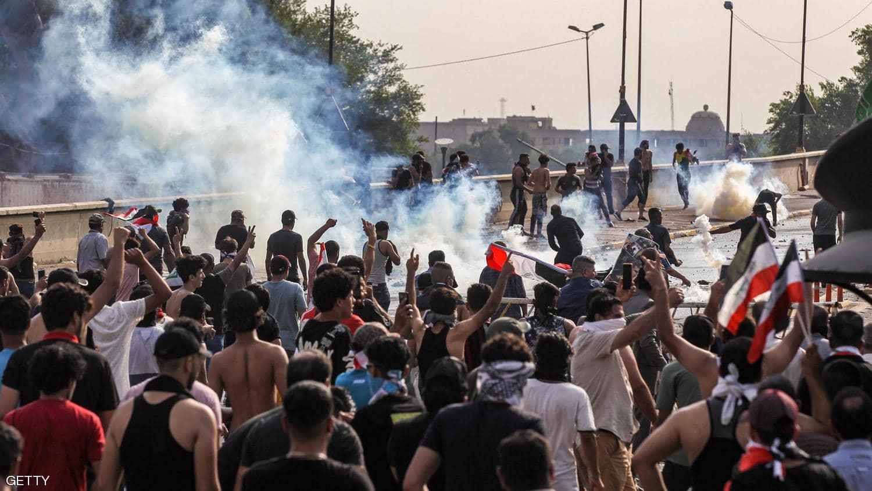 إصابة 5 عراقيين خلال مظاهرة تطالب بتوفير فرص عمل فى منطقة الزعفرانية ببغداد