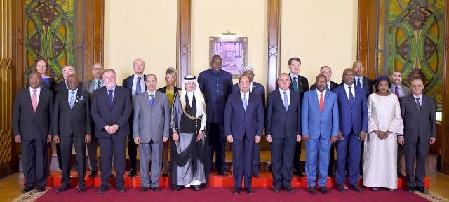الرئيس السيسي يستقبل رؤساء وفود الدول المشاركة في فعاليات «أسبوع القاهرة للمياه»