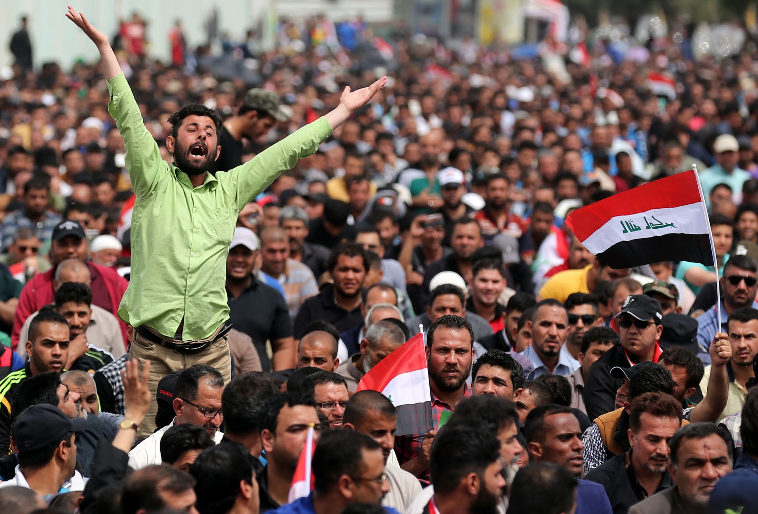 العراق: إجراءات أمنية مشددة قبيل انطلاق مظاهرة حاشدة في بغداد