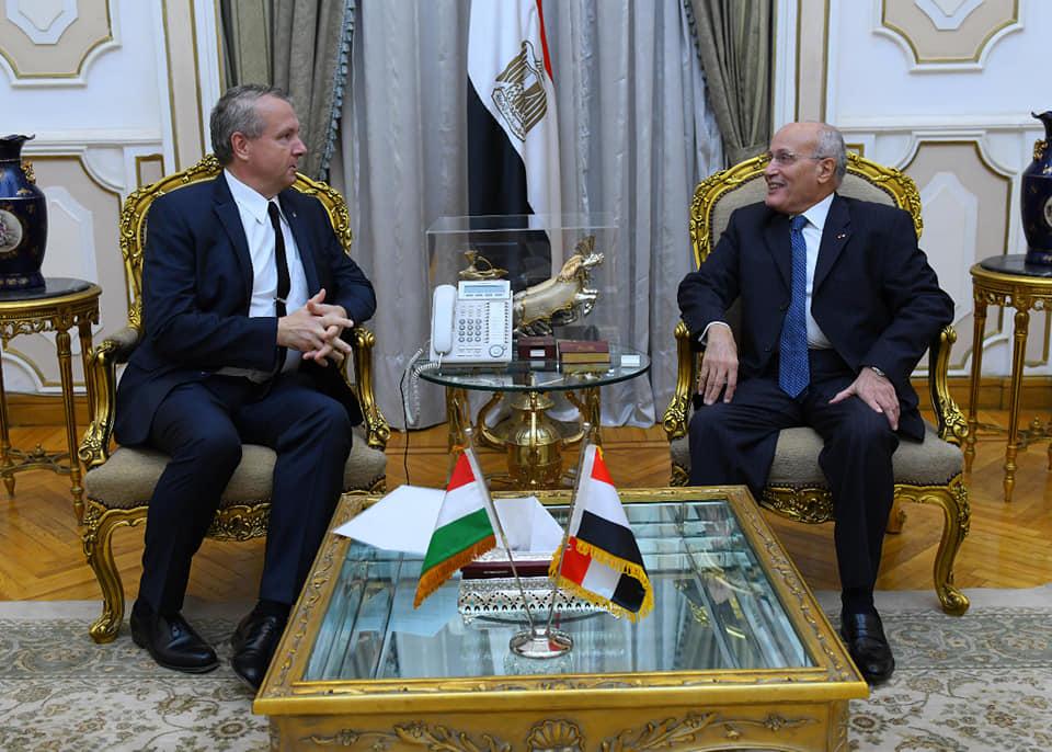 صور   وزير الانتاج الحربي تبحث مع  سفير المجر بالقاهرة لتفعيل التعاون المشترك