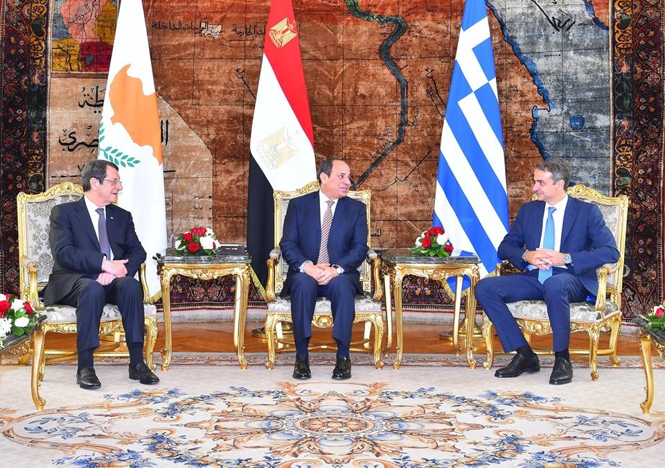 القمة «المصرية اليونانية القبرصية» تتصدر عناوين واهتمامات صحف القاهرة