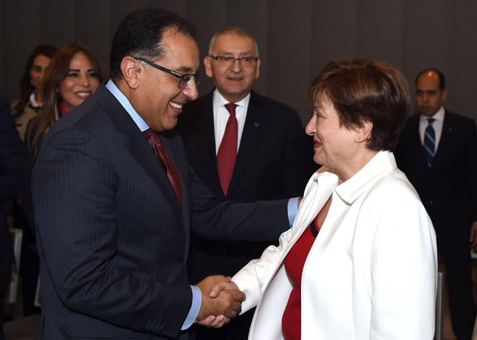 رئيس الوزراء يلتقي بالمديرة الجديدة لصندوق النقد الدولي في واشنطن