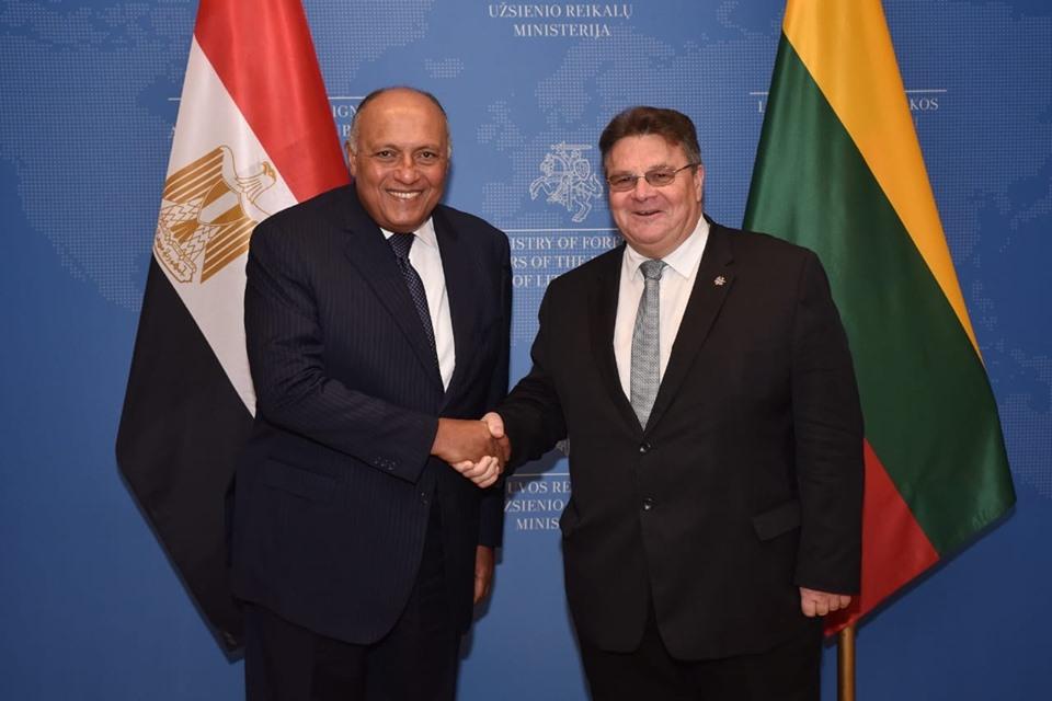 وزير خارجية ليتوانيا : نقدر جهود مصر للبحث عن حلول سياسية للنزاعات