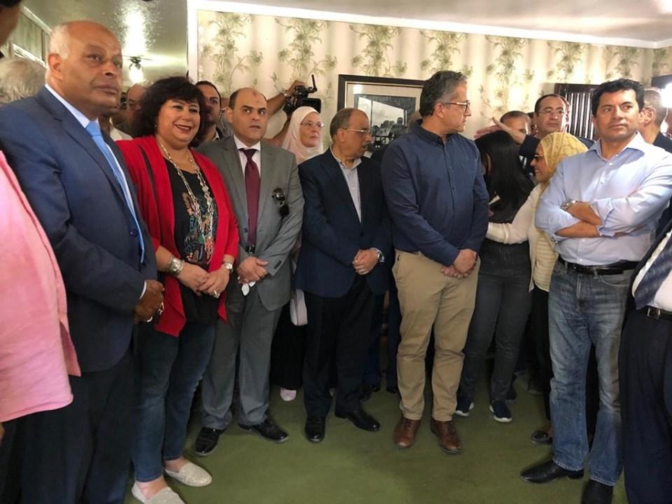 صور |وزيرة الثقافة ومحافظ جنوب سيناء افتتحا استراحه الرئيس السادات بسانت كاترين