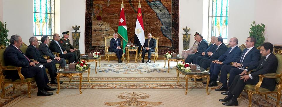 الصحف تبرز القمة المصرية الأردنية وتشديد السيسي على رفض العدوان التركي