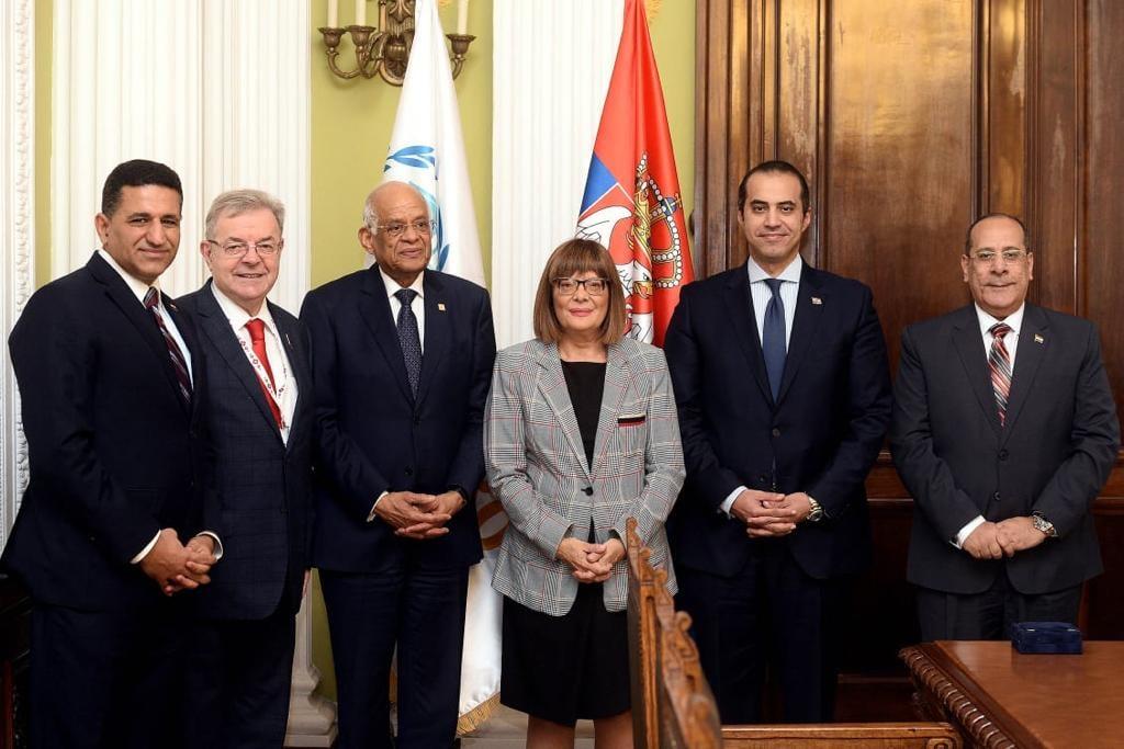صور | رئيس مجلس النواب يبحث التعاون الثنائى مع رئيسة الجمعية الوطنية الصربية