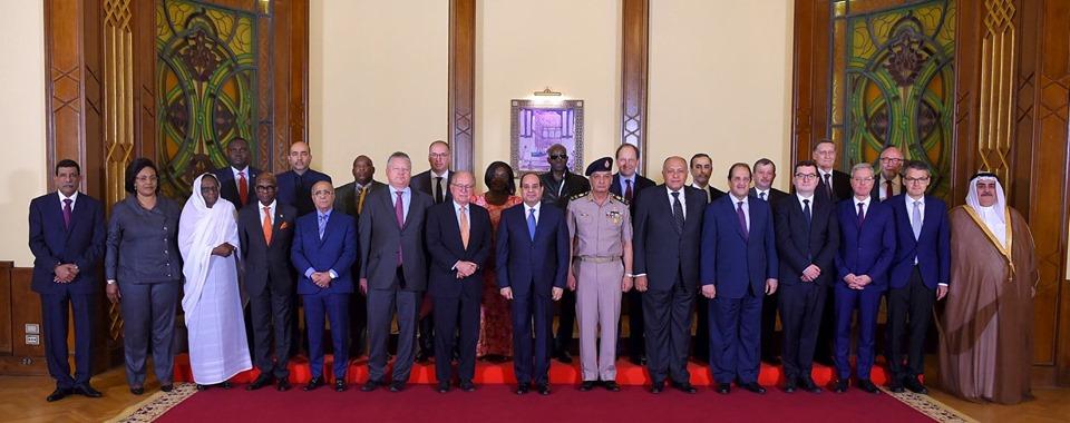 صور | الرئيس السيسي يشدد على أهمية تعزيز التكاتف الدولى لمواجهة المخاطر الأمنية