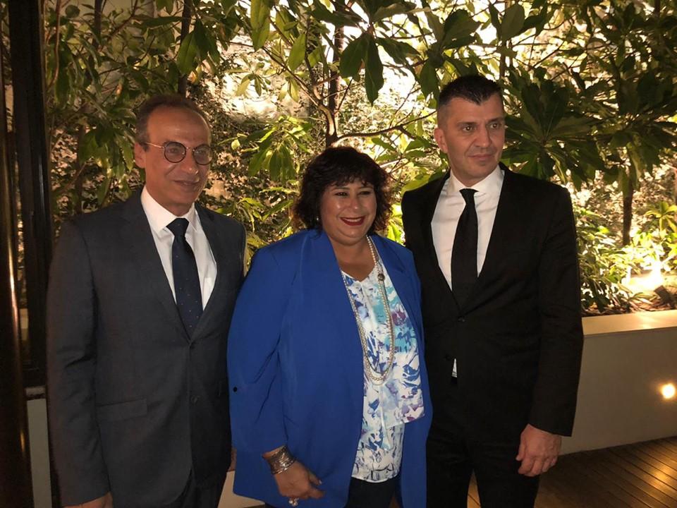 وزيرة الثقافة تلتقي وزير العمل الصربي لبحث فرص الاستثمار الثقافي بين البلدين