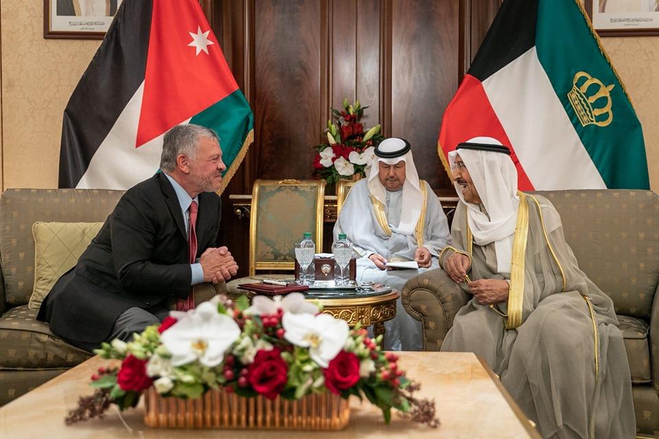 أمير الكويت والعاهل الأردني يبحثان سبل دعم مسيرة العمل العربي المشترك