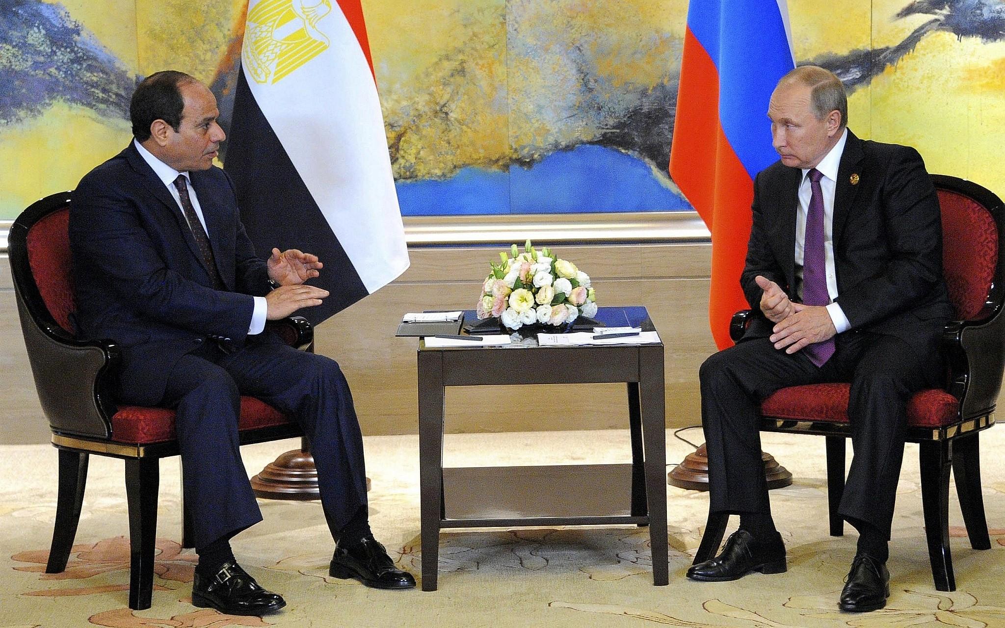 """بوتين يوجه الشكر للسيسي على دعم منتدى """"افريقيا – روسيا"""""""