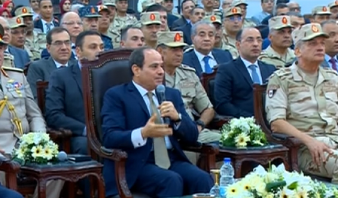 الرئيس السيسي : الشعب المصرى واعي والدولة حاضرة دائمًا فى مواجهة الشائعات