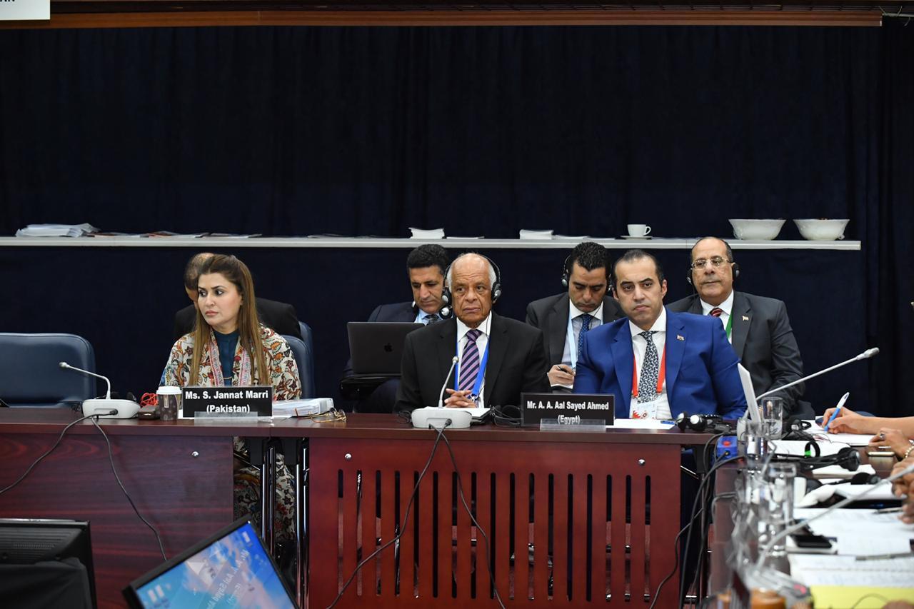 صور | رئيس البرلمان يدعو العالم للاستفادة من تجربة مصر فى مواجهة الإرهاب