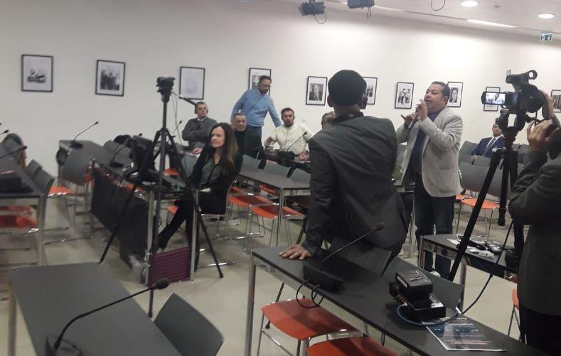 فيديو| الاخوان الإرهابية تفشل في تنظيم مؤتمر صحفي.. وعناصره تعتدي على الوطني جورج عياد