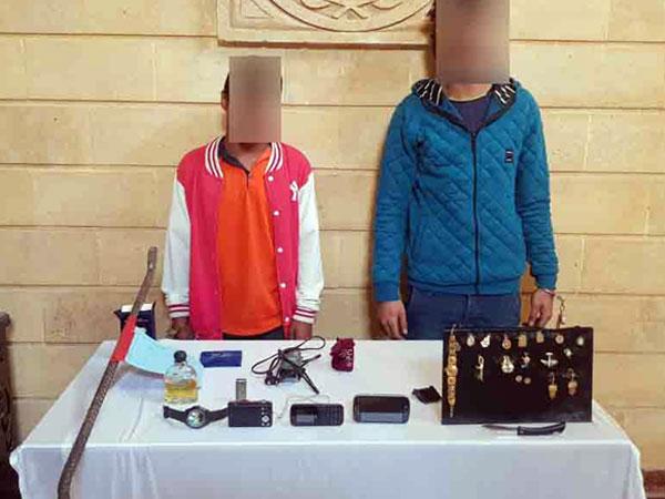 ضبط شخصين بحوزتهما متحصلات واقعة سرقة فور إرتكابها بالقاهرة