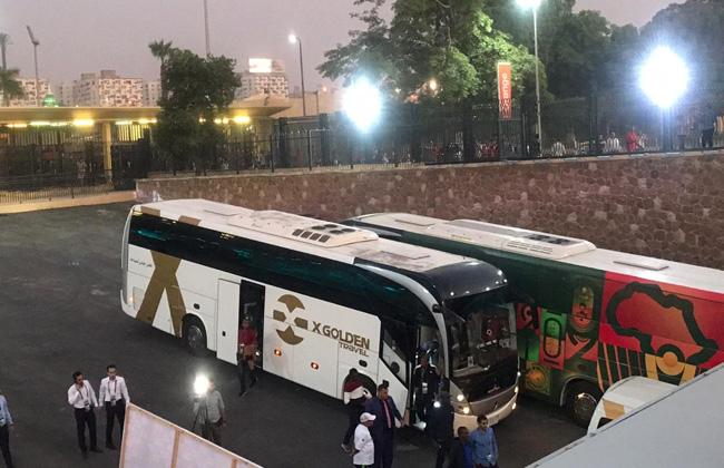 منتخب مالي الأوليمبي يصل إلي إستاد القاهرة استعدادا لمواجهة الفراعنة