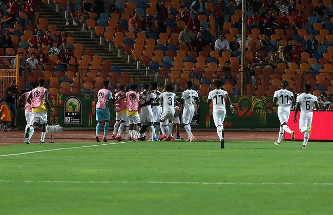 غانا تسجل الهدف الثاني في مرمى المنتخب المصري بأمم إفريقيا