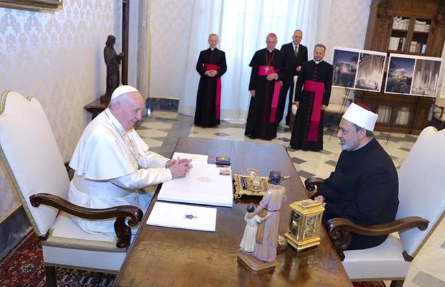 شيخ الأزهر وبابا الفاتيكان: وثيقة الأخوة الإنسانية كانت حلما بعيدا ولكنها أصبحت حقيقة