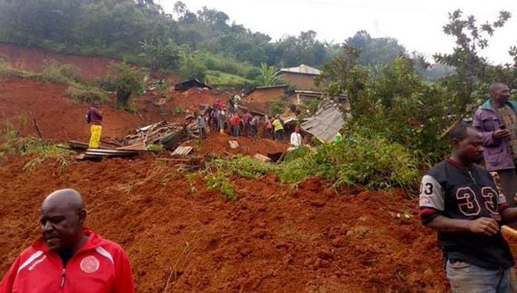 تشريد مئات الأشخاص فى الكاميرون نتجية الانهيارات الأرضية الناجمة عن الأمطار