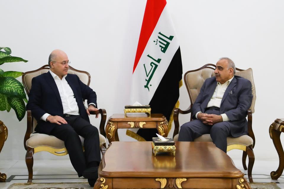 الرئيس العراقي ورئيس الوزراء يبحثان سبل حفظ الأمن والاستقرار في البلاد