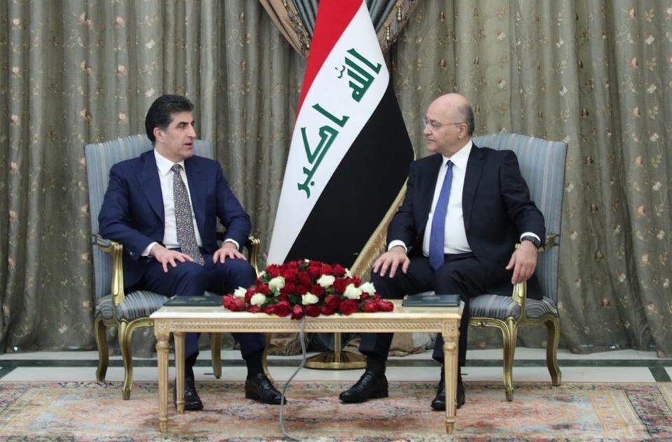 الرئيس العراقي يبحث مع بارزاني الأوضاع السياسية بين بغداد وأربيل