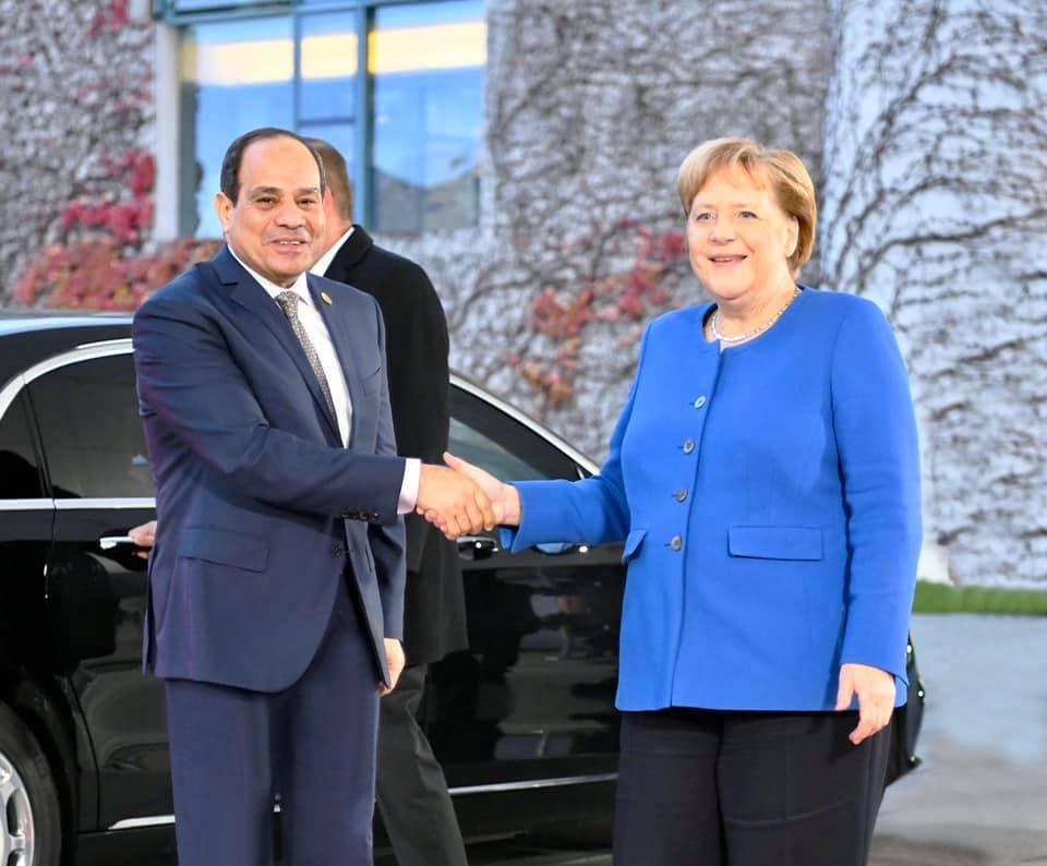 انطلاق المباحثات الثنائية بين الرئيس السيسى والمستشارة الألمانية فى برلين