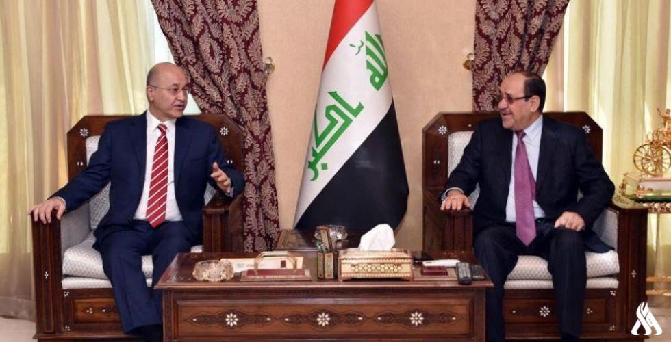 الرئيس العراقى ورئيس ائتلاف دولة القانون يؤكدان ضرورة الحفاظ على سلمية المظاهرات