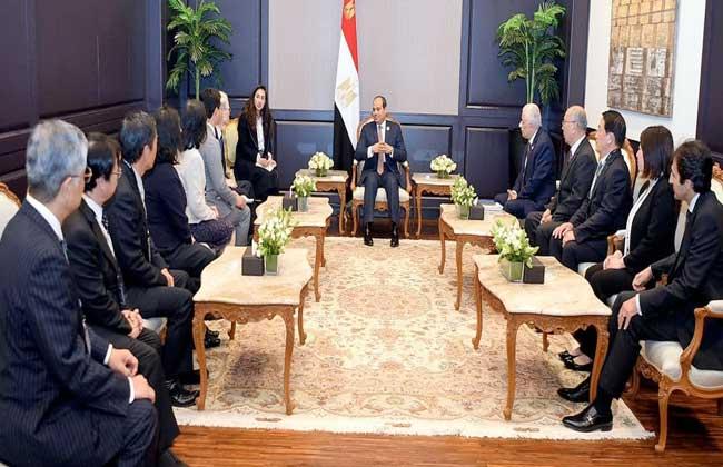 الرئيس السيسي يستقبل الخبراء اليابانيين المزمع إشرافهم علي منظومة المدارس اليابانية بمصر