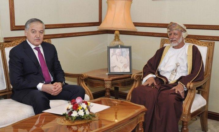 سلطنة عمان وطاجيكستان تبحثان سبل تعزيز العلاقات الثنائية