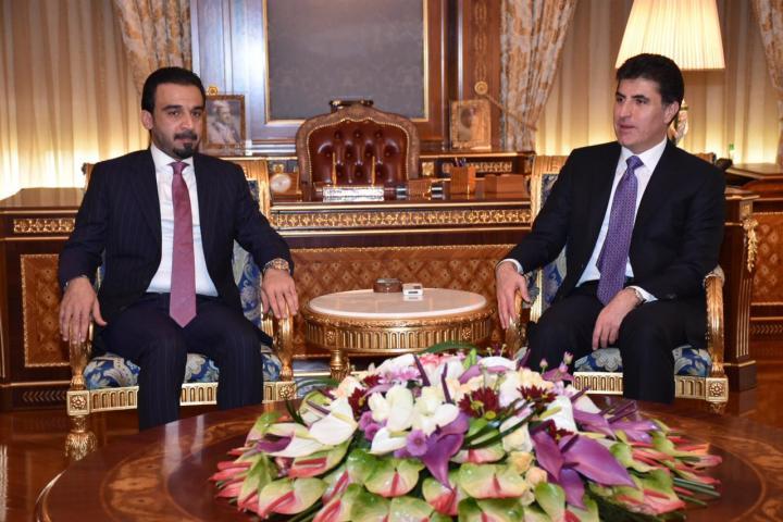 الحلبوسي والبارزاني يتفقان على مساعدة الشركاء في اختيار رئيس وزراء العراق