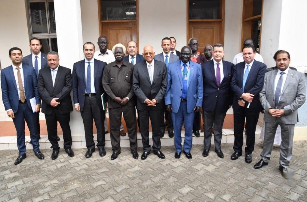 رئيس البرلمان يلتقي أونيوتي أديجو وزير الزراعة والأمن الغذائي بجنوب السودان