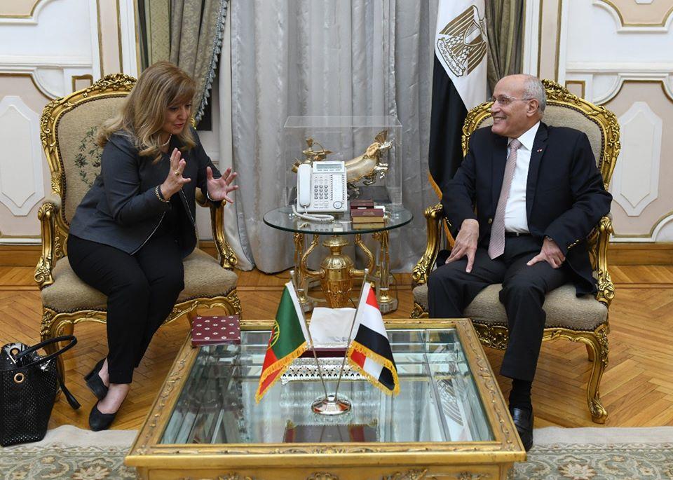 صور | وزير الإنتاج الحربي يشيد بجهود سفيرة البرتغال بعد انتهاء فترة عملها