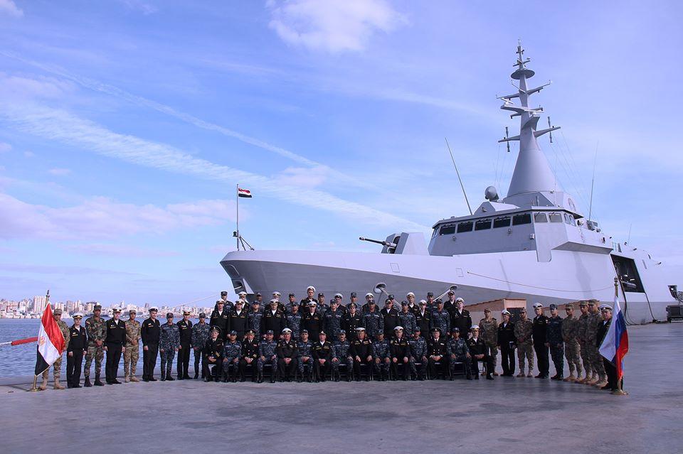 القوات المصرية والروسية تختتم التدريب البحري «جسر الصداقة 2019»