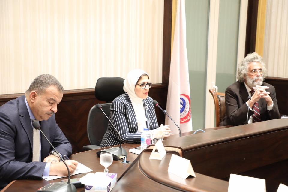 صور | وزيرة الصحة :  إلحاق جميع الأطباء بنظام التدريب الجديد ببرنامج الزمالة المصرية