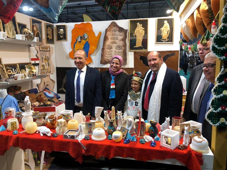 صور | سفير مصر بإيطاليا يشيد بدور وزارة التضامن فى معرض ارتيجيانو دي افييرا