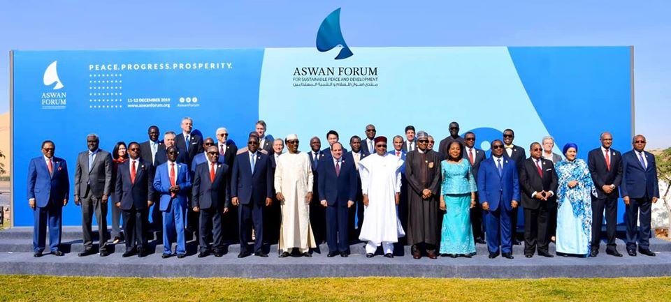 الرئيس السيسي يشهد فعالبات اليوم الثاني من منتدى اسوان للسلام والتنمية