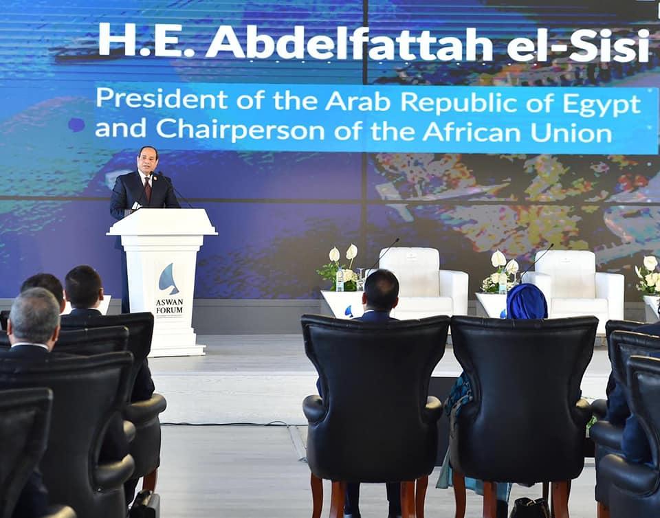 كلمة الرئيس السيسي بمنتدى أسوان ولقاءاته مع قادة القارة تتصدر اهتمامات الصحف