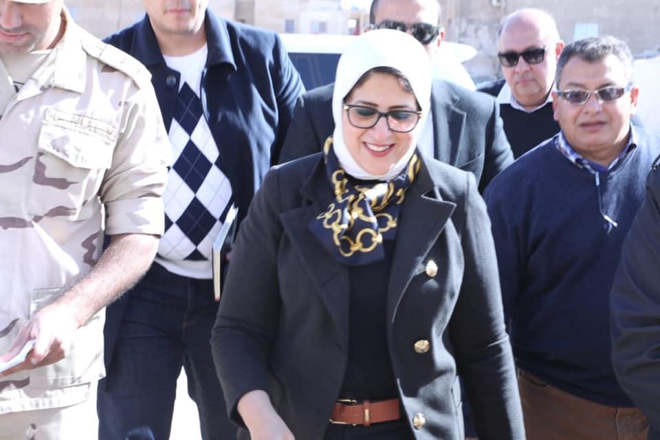 وزيرة الصحة : تسجيل 30 ألف مواطن بمنظومة التأمين الصحى الشامل بجنوب سيناء
