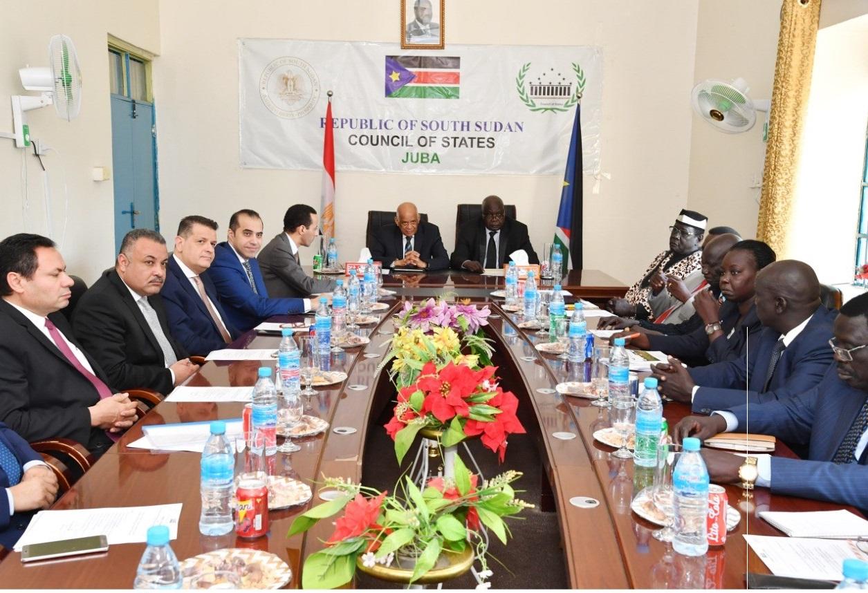 عبد العال يؤكد الاستعداد لتقديم الدعم لبرلمان جنوب السودان