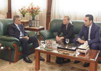 رئيس هيئة قناة السويس يبحث مع سفيرة النرويج بالقاهرة سبل التعاون المشترك