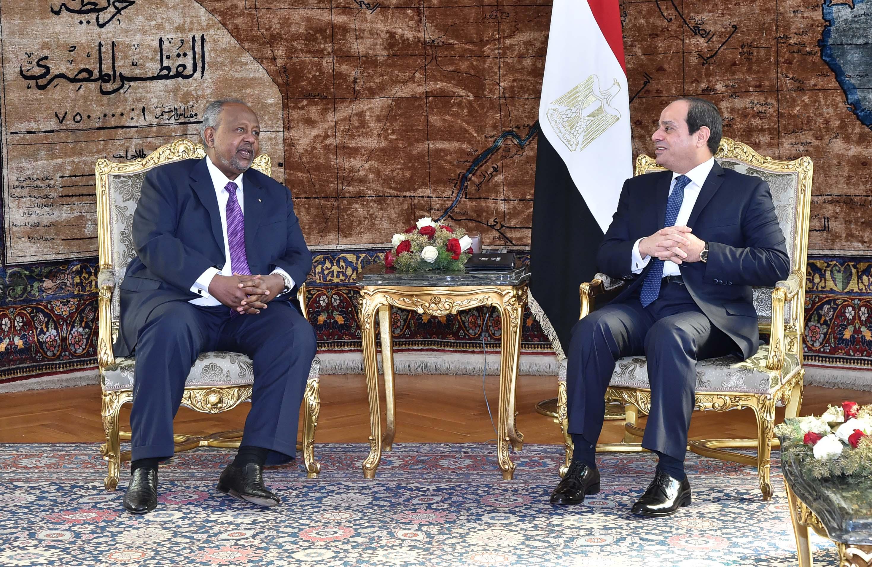 الرئيس السيسي يؤكد تضامن مصر مع جيبوتي في مواجهة آثار الفيضانات