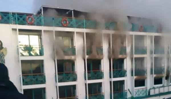 """السيطرة على حريق بفندق عائم بمرسى """"الوطنية"""" بمحافظة الأقصر"""