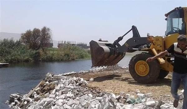 """""""الري"""": إزالة 14 حالة تعد على نهر النيل في ثلاث محافظات اليوم"""