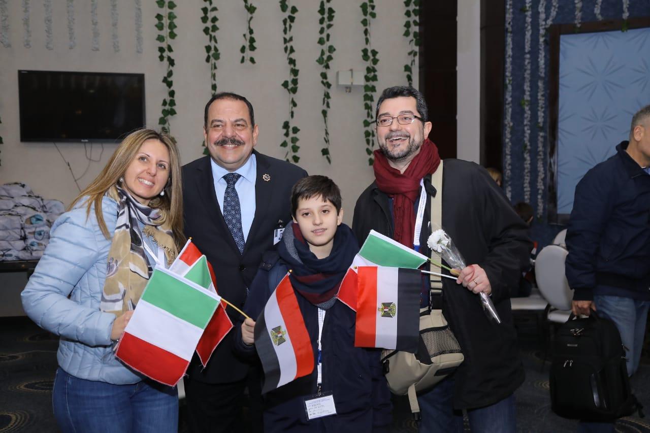 استقبال الوفد الإيطالي11