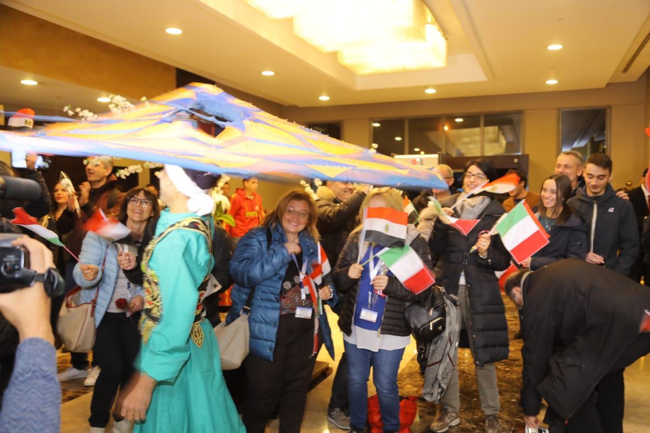 استقبال الوفد الإيطالي12