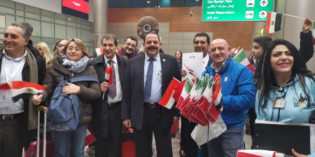 استقبال الوفد الإيطالي19
