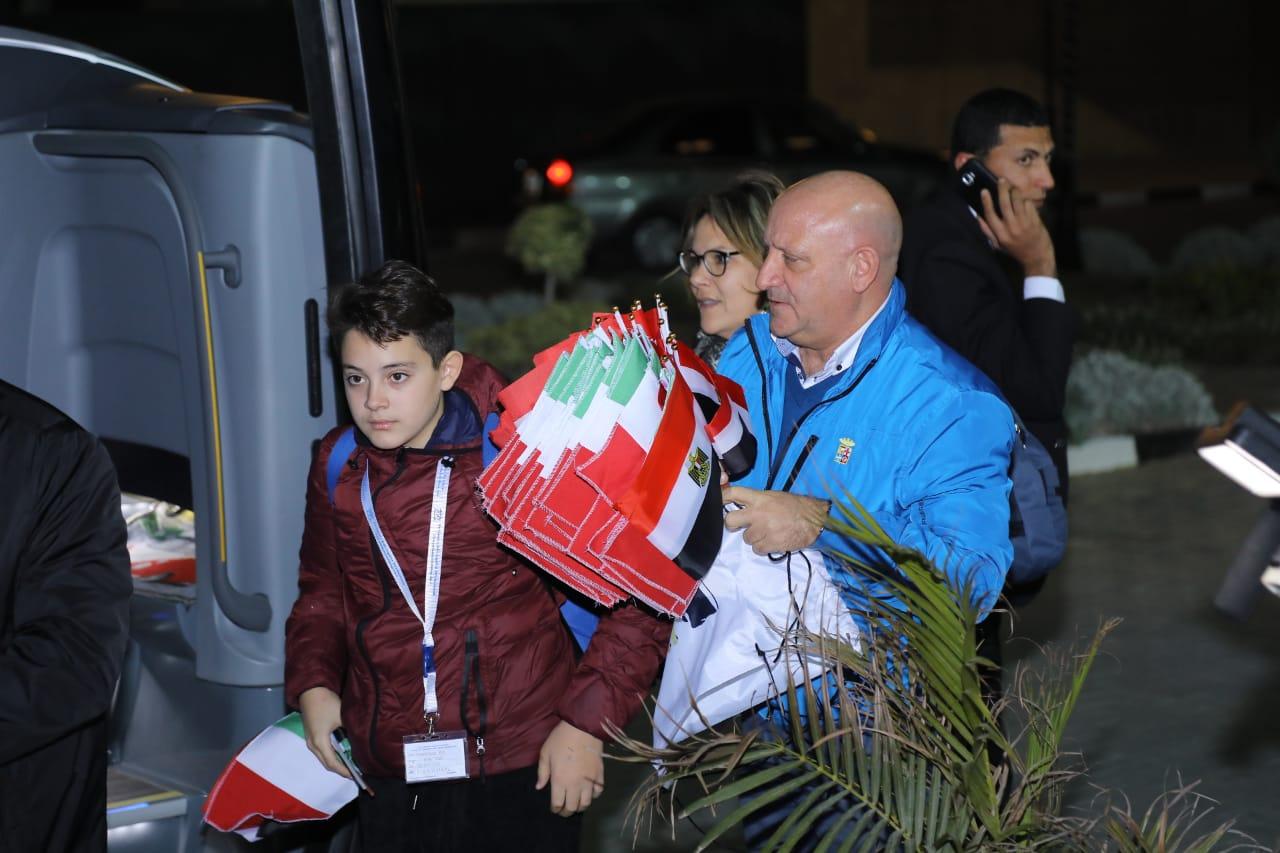 استقبال الوفد الإيطالي6
